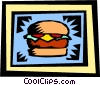 Vector Clipart graphic  of a Hamburger