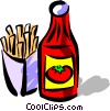 Vector Clip Art graphic  of a Ketchup