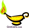 genie's lamp Vector Clipart illustration
