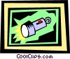 Vector Clip Art picture  of a flashlight