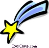 shooting star Vector Clipart picture