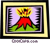 volcano Vector Clipart graphic