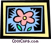 Vector Clip Art image  of a flower