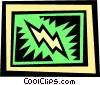 Vector Clipart picture  of a lightning