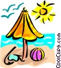 Vector Clip Art image  of a Beaches