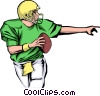 Vector Clip Art graphic  of a Quarterback