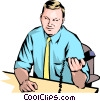 Man with papers Vector Clipart picture
