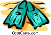 Vector Clip Art graphic  of a Flippers