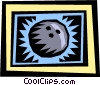 Vector Clipart picture  of a Bowling balls