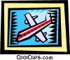 Vector Clip Art graphic  of an Airplanes