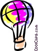 Vector Clip Art graphic  of a Hot Air Balloon