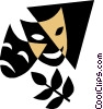 Vector Clip Art image  of a theatre masks