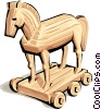 Vector Clip Art picture  of a Trojan Horse