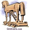 Trojan Horse Vector Clip Art graphic