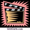 Vector Clip Art graphic  of a clapboard