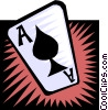 Vector Clip Art graphic  of an Ace