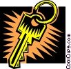 Vector Clip Art picture  of a Key