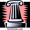 Vector Clipart illustration  of a column