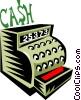 Vector Clip Art graphic  of a Cash register