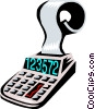 Vector Clipart image  of a calculator