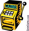slot machine Vector Clipart illustration