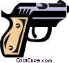 hand gun Vector Clip Art graphic