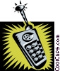 Vector Clipart illustration  of a cellular phone