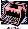 Vector Clip Art image  of a typewriter