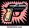 Vector Clip Art picture  of a gun