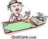Vector Clip Art graphic  of a Baby businessman