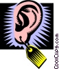 ear, price tag Vector Clipart picture