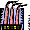 smokestacks Vector Clip Art graphic