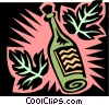 Vector Clip Art image  of a liquor bottle