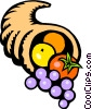 Vector Clipart picture  of a cornucopia