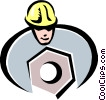 construction worker Vector Clipart illustration