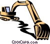 Vector Clip Art image  of a heavy equipment/high hoe