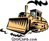 heavy equipment/bulldozer Vector Clip Art picture