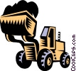 Vector Clip Art graphic  of a heavy equipment/front end