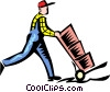 Vector Clipart illustration  of a man working