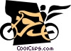 Vector Clipart picture  of a Motorcycles