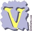 Vector Clip Art image  of a text aids