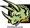 Vector Clip Art picture  of a dinosaur