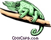 Vector Clip Art image  of a lizard