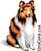 Vector Clip Art graphic  of a dog/collie