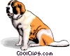 Vector Clipart graphic  of a dogs
