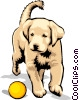 Vector Clipart graphic  of a puppy