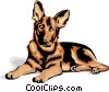Vector Clipart picture  of a German Shepard puppy