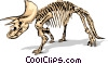 Vector Clip Art picture  of a Dinosaur bones