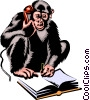 monkey Vector Clipart illustration
