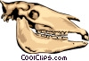 animal skull Vector Clip Art graphic